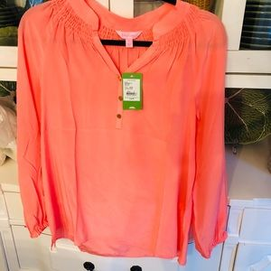 NWT Lilly Pulitzer Elsa blouse orange small